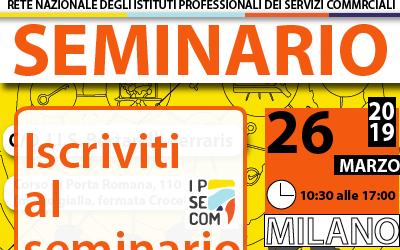 Modulo di iscrizione per aderire al seminario nazionale del 26 marzo a Milano